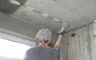 Отделка и ремонт потолка штукатуркой Ротбанд: фото, видео