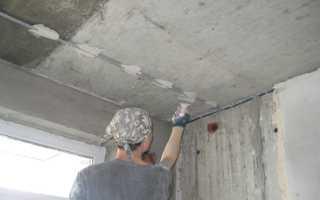 Штукатурка потолка по маякам своими руками: выравнивание штукатуркой, фото и видео
