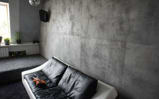 Декоративная штукатурка под бетон: покрасить лаком или нет?