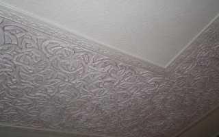 Декоративной штукатурка потолка из гипсокартона – фото и видео инструкция