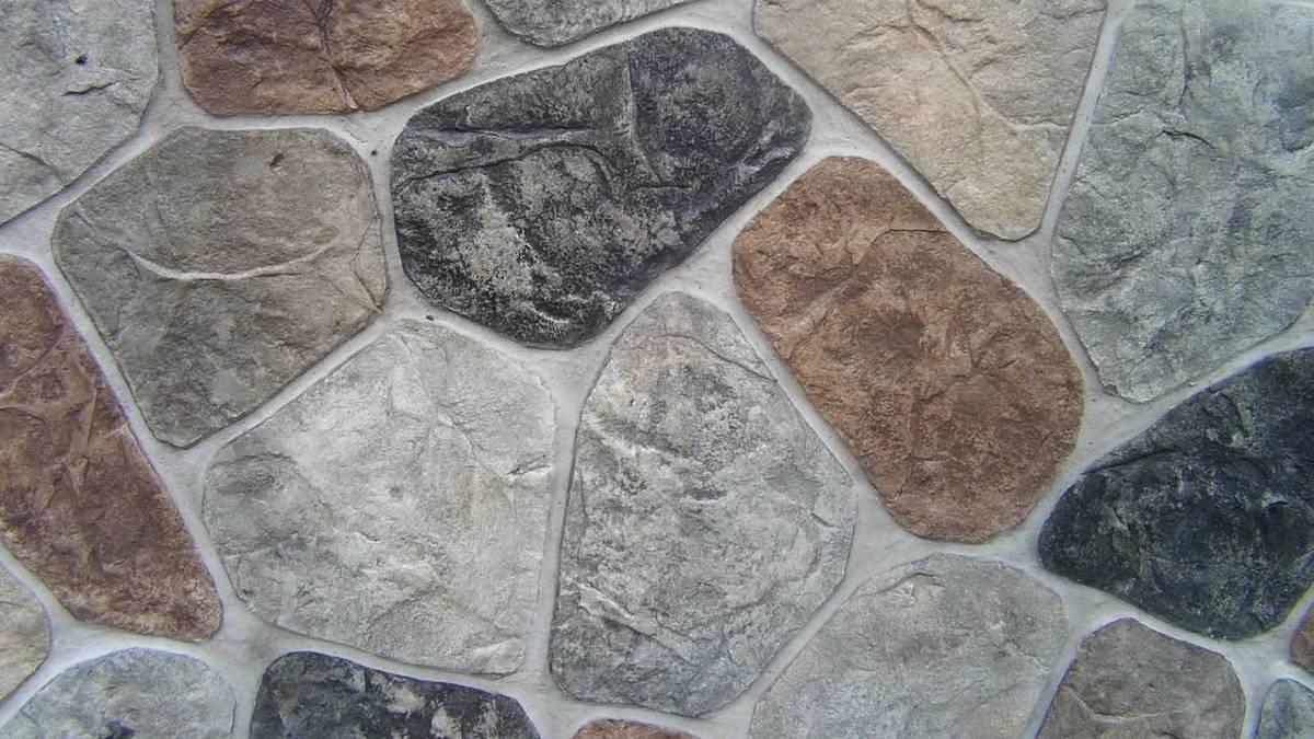 имитация выпуклого камня из штукатурки