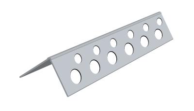 прямой перфорированный уголок для штукатурки
