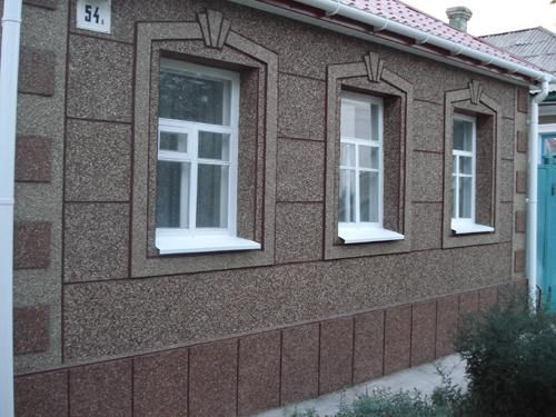 Каменная штукатурка на фасад
