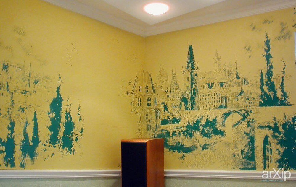 стенная живопись по сухой штукатурке