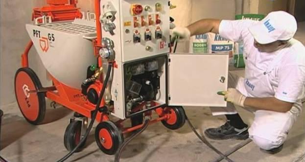 подготовка штукатурной машины
