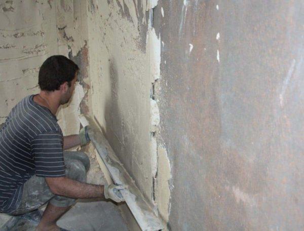 Штукатурка покрашенных стен