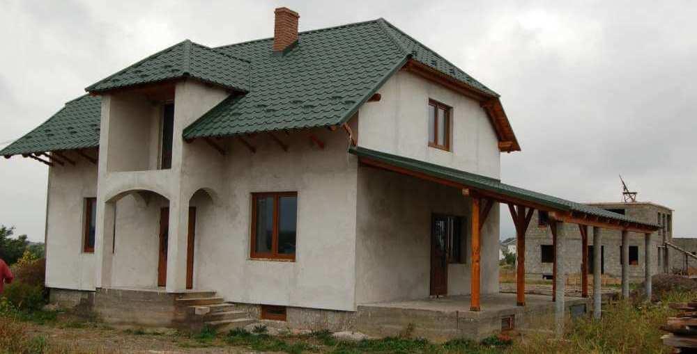 дом покрытый перлитовой штукатуркой